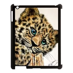 Jaguar Cub Apple Ipad 3/4 Case (black) by ArtByThree