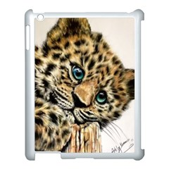 Jaguar Cub Apple Ipad 3/4 Case (white) by ArtByThree