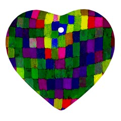 P 791 Heart Ornament (two Sides)
