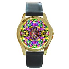 Pattern 807 Round Gold Metal Watch