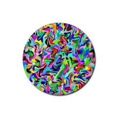 Artwork By Patrick Pattern 9 Rubber Coaster (round)