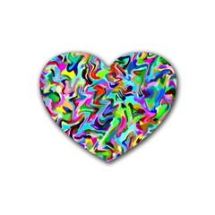 Artwork By Patrick Pattern 9 Rubber Coaster (heart)