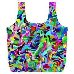 Artwork By Patrick Pattern 9 Full Print Recycle Bags (l)