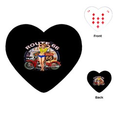 Route 66 Playing Cards (heart)  by ArtworkByPatrick