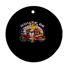 Route 66 Round Ornament (two Sides) by ArtworkByPatrick