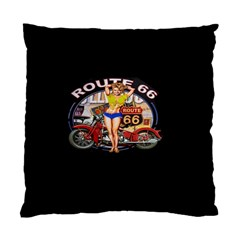 Route 66 Standard Cushion Case (two Sides) by ArtworkByPatrick