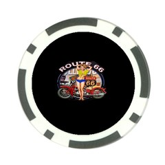 Route 66 Poker Chip Card Guard (10 Pack) by ArtworkByPatrick