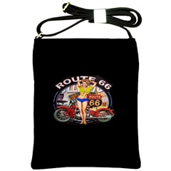 Route 66 Shoulder Sling Bags by ArtworkByPatrick