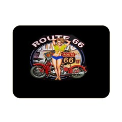 Route 66 Double Sided Flano Blanket (mini)  by ArtworkByPatrick