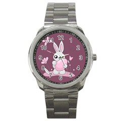 Easter Bunny  Sport Metal Watch by Valentinaart