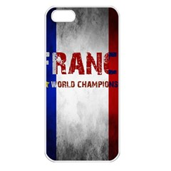 Football World Cup Apple Iphone 5 Seamless Case (white) by Valentinaart