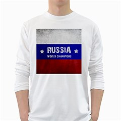 Football World Cup White Long Sleeve T Shirts by Valentinaart