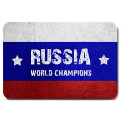 Football World Cup Large Doormat  by Valentinaart
