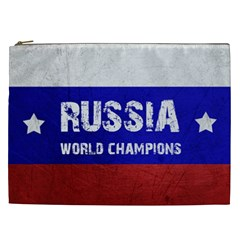 Football World Cup Cosmetic Bag (xxl)  by Valentinaart