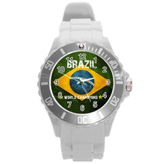 Football World Cup Round Plastic Sport Watch (l) by Valentinaart