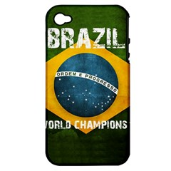 Football World Cup Apple Iphone 4/4s Hardshell Case (pc+silicone) by Valentinaart