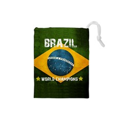 Football World Cup Drawstring Pouches (small)  by Valentinaart