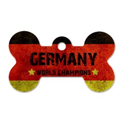 Football World Cup Dog Tag Bone (one Side) by Valentinaart