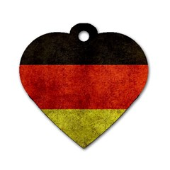 Football World Cup Dog Tag Heart (one Side) by Valentinaart