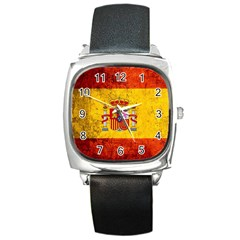 Football World Cup Square Metal Watch by Valentinaart