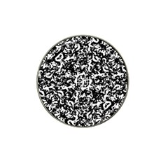Black And White Abstract Texture Hat Clip Ball Marker (4 Pack) by dflcprints