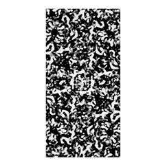 Black And White Abstract Texture Shower Curtain 36  X 72  (stall)  by dflcprints