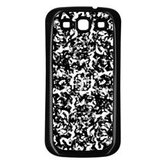 Black And White Abstract Texture Samsung Galaxy S3 Back Case (black) by dflcprints