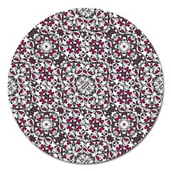 Boho Bold Vibrant Ornate Pattern Magnet 5  (round) by dflcprints