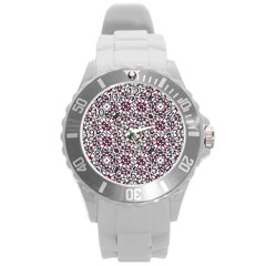 Boho Bold Vibrant Ornate Pattern Round Plastic Sport Watch (l) by dflcprints