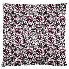 Boho Bold Vibrant Ornate Pattern Large Flano Cushion Case (one Side) by dflcprints