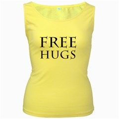 Freehugs Women s Yellow Tank Top