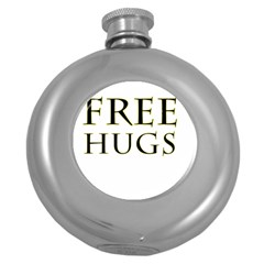 Freehugs Round Hip Flask (5 Oz) by cypryanus