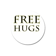 Freehugs Magnet 3  (round) by cypryanus