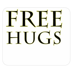 Freehugs Double Sided Flano Blanket (small)  by cypryanus