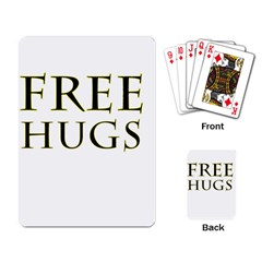 Freehugs Playing Card by cypryanus