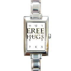 Freehugs Rectangle Italian Charm Watch by cypryanus