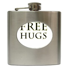 Freehugs Hip Flask (6 Oz) by cypryanus