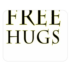 Freehugs Double Sided Flano Blanket (large)  by cypryanus