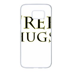 Freehugs Samsung Galaxy S7 Edge White Seamless Case by cypryanus