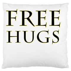 Freehugs Large Cushion Case (one Side) by cypryanus