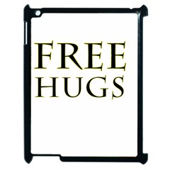 Freehugs Apple Ipad 2 Case (black) by cypryanus