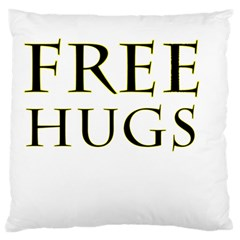 Freehugs Large Flano Cushion Case (two Sides) by cypryanus