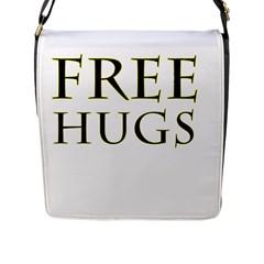 Freehugs Flap Messenger Bag (l)  by cypryanus