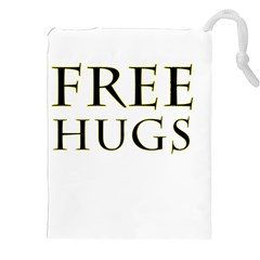 Freehugs Drawstring Pouches (xxl) by cypryanus