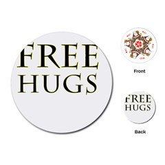 Freehugs Playing Cards (round)  by cypryanus