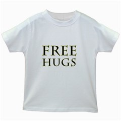 Freehugs Kids White T Shirts by cypryanus