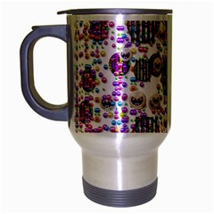 Alien Sweet As Candy Travel Mug (silver Gray) by pepitasart
