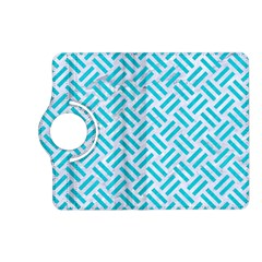 Woven2 White Marble & Turquoise Colored Pencil (r) Kindle Fire Hd (2013) Flip 360 Case by trendistuff