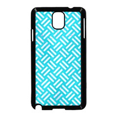 Woven2 White Marble & Turquoise Colored Pencil Samsung Galaxy Note 3 Neo Hardshell Case (black) by trendistuff