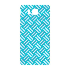 Woven2 White Marble & Turquoise Colored Pencil Samsung Galaxy Alpha Hardshell Back Case by trendistuff
